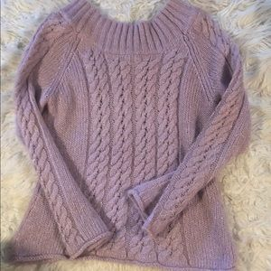 Beautiful lavender sweater with tinsel sparkle